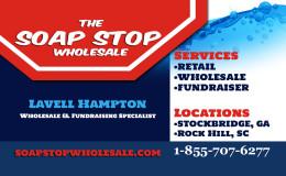 Soap Stop Wholesale Business Card Front