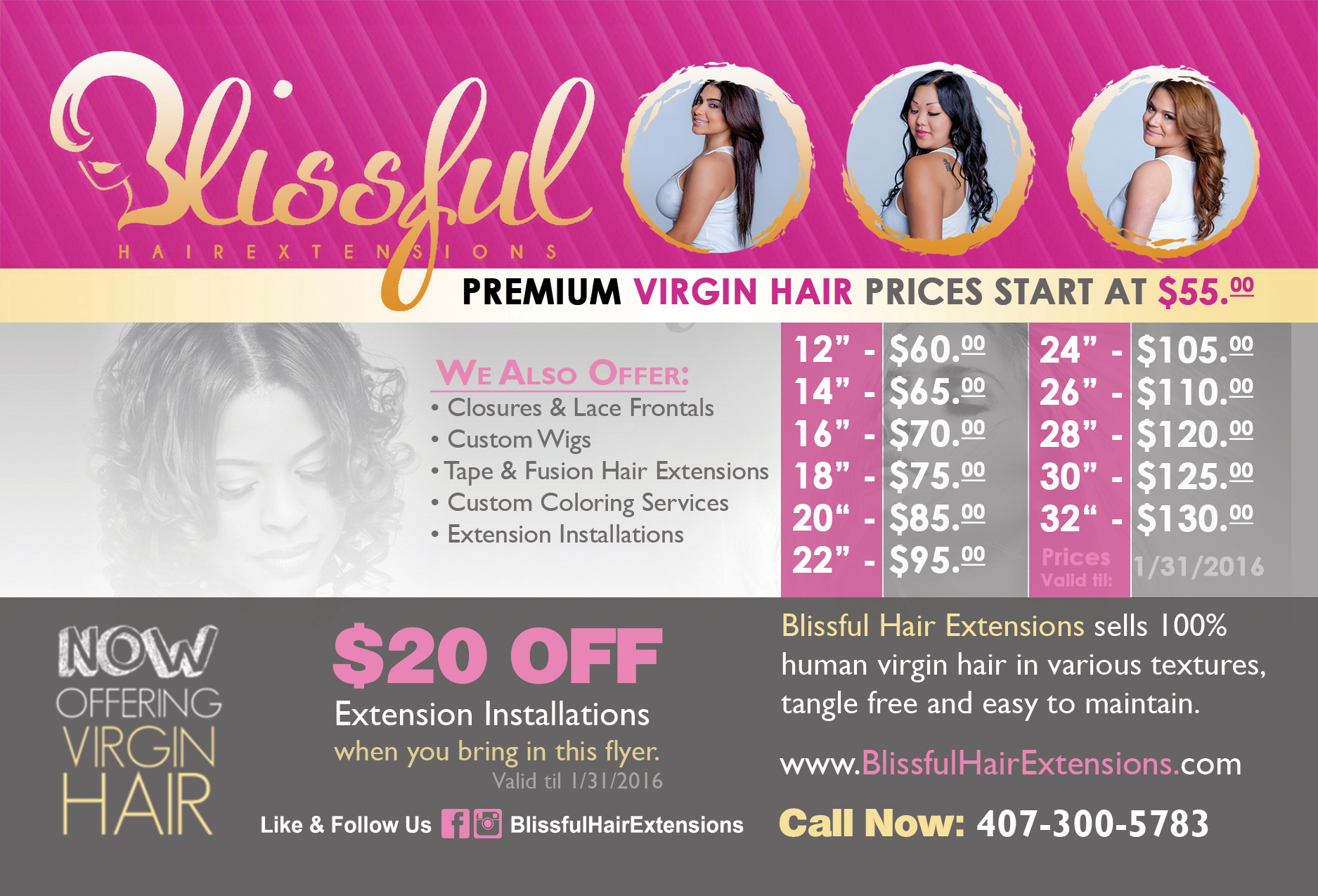 Blissful Hair Extensions - ASB Marketing Solutions